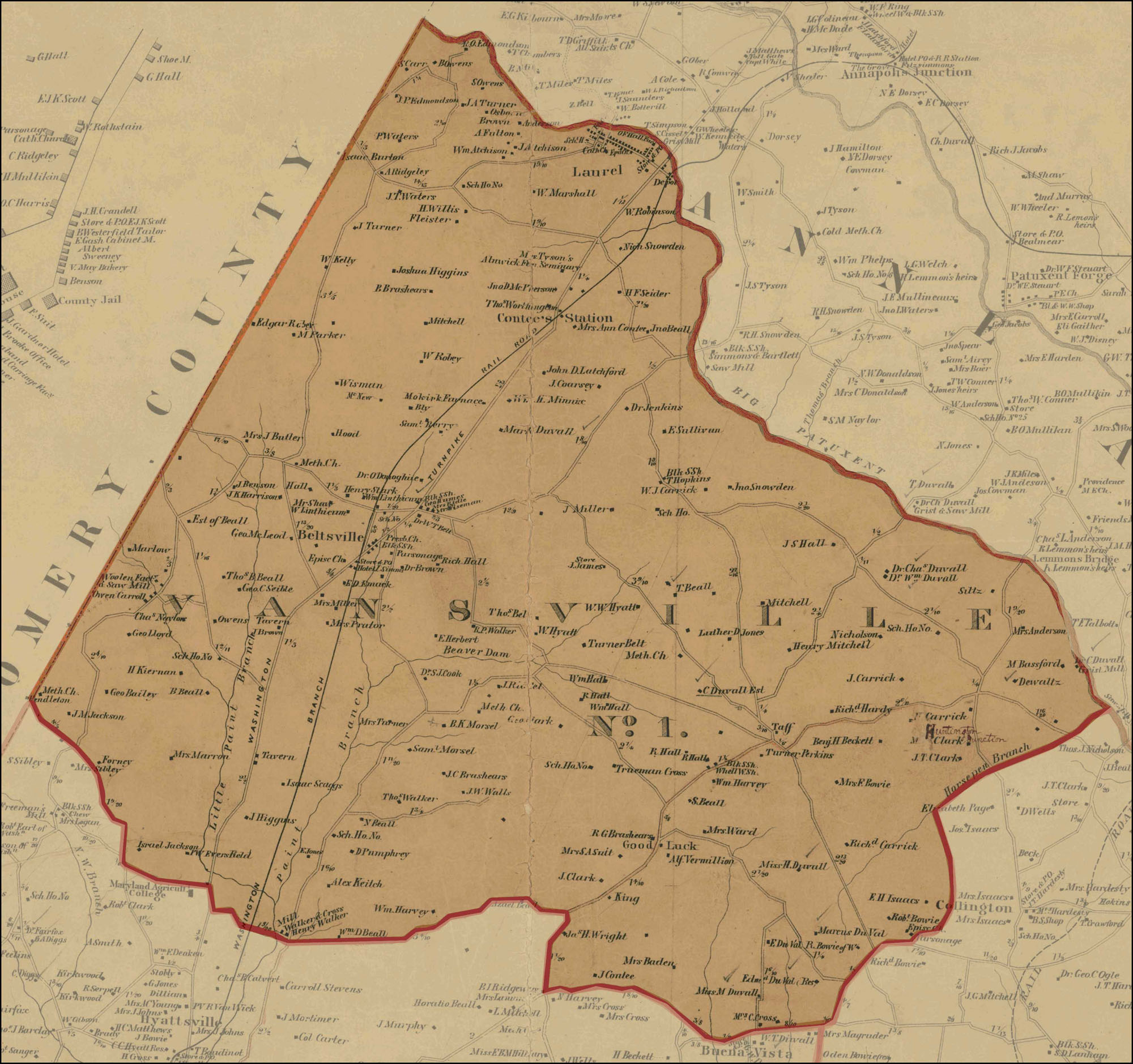 Maps of Maryland Counties
