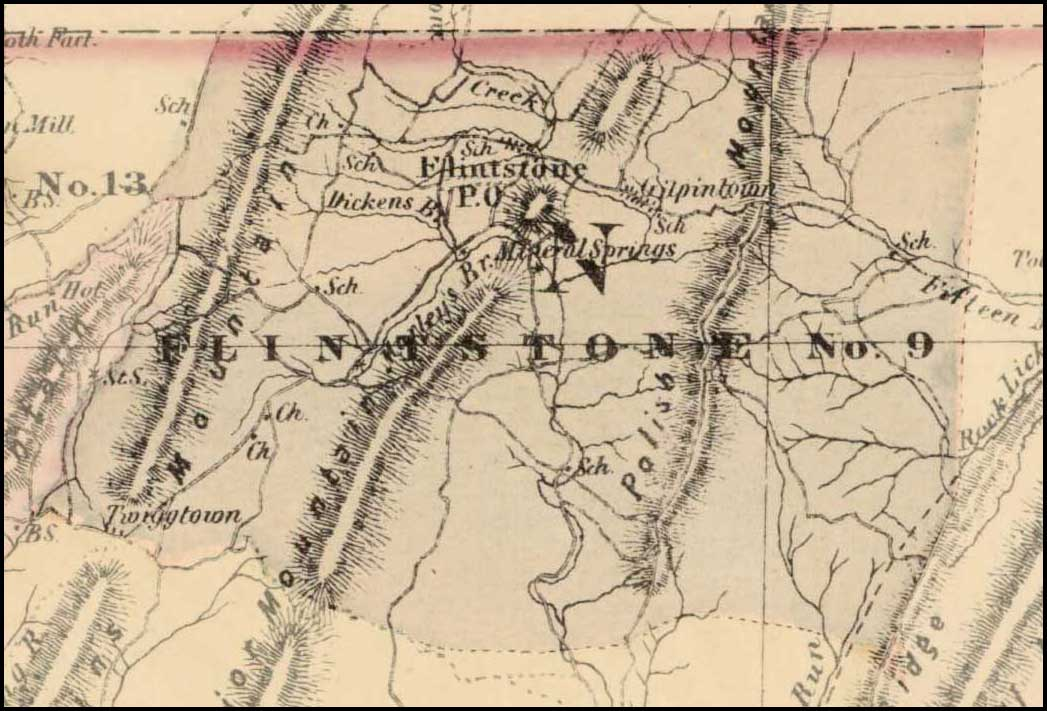 Simon J. Martenet, Map of Allegany County, 1865, Huntingfield Collection MSA SC 1399-1-75