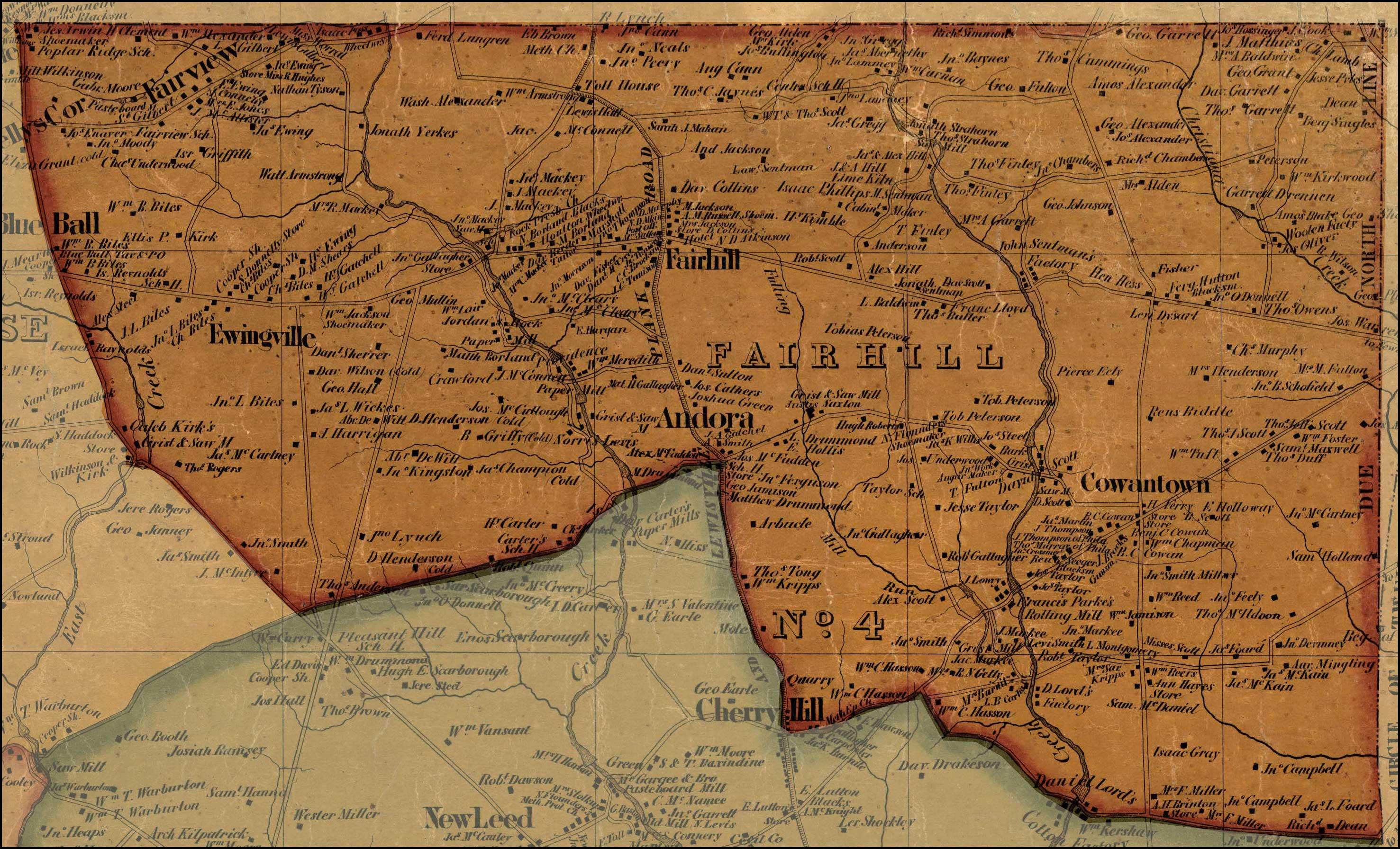 Simon J Martenet Map of Cecil County
