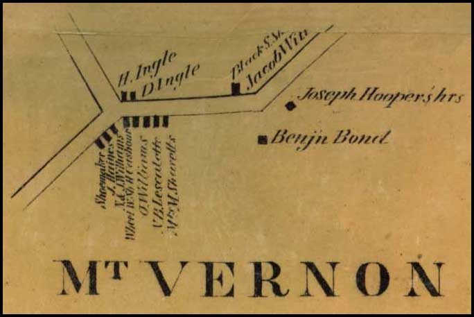 Detail of Mt. Vernon from Simon J. Martenet, Map of Carroll County, 1862, Library of Congress, MSA SC 1213-1-119