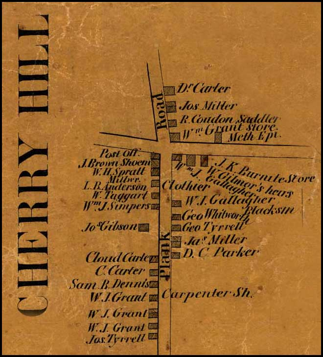 Detail of Cherry Hill from Simon J. Martenet, Map of Cecil County, 1858, Library of Congress, MSA SC 1213-1-462