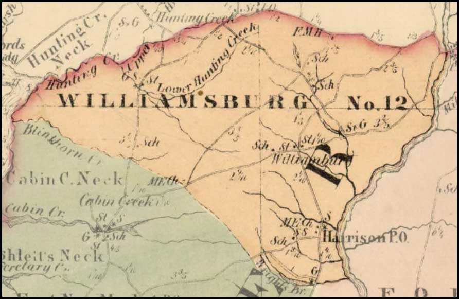Simon J. Martenet, Map of Dorchester County, 1865, Huntingfield Collection MSA SC 1399-1-75