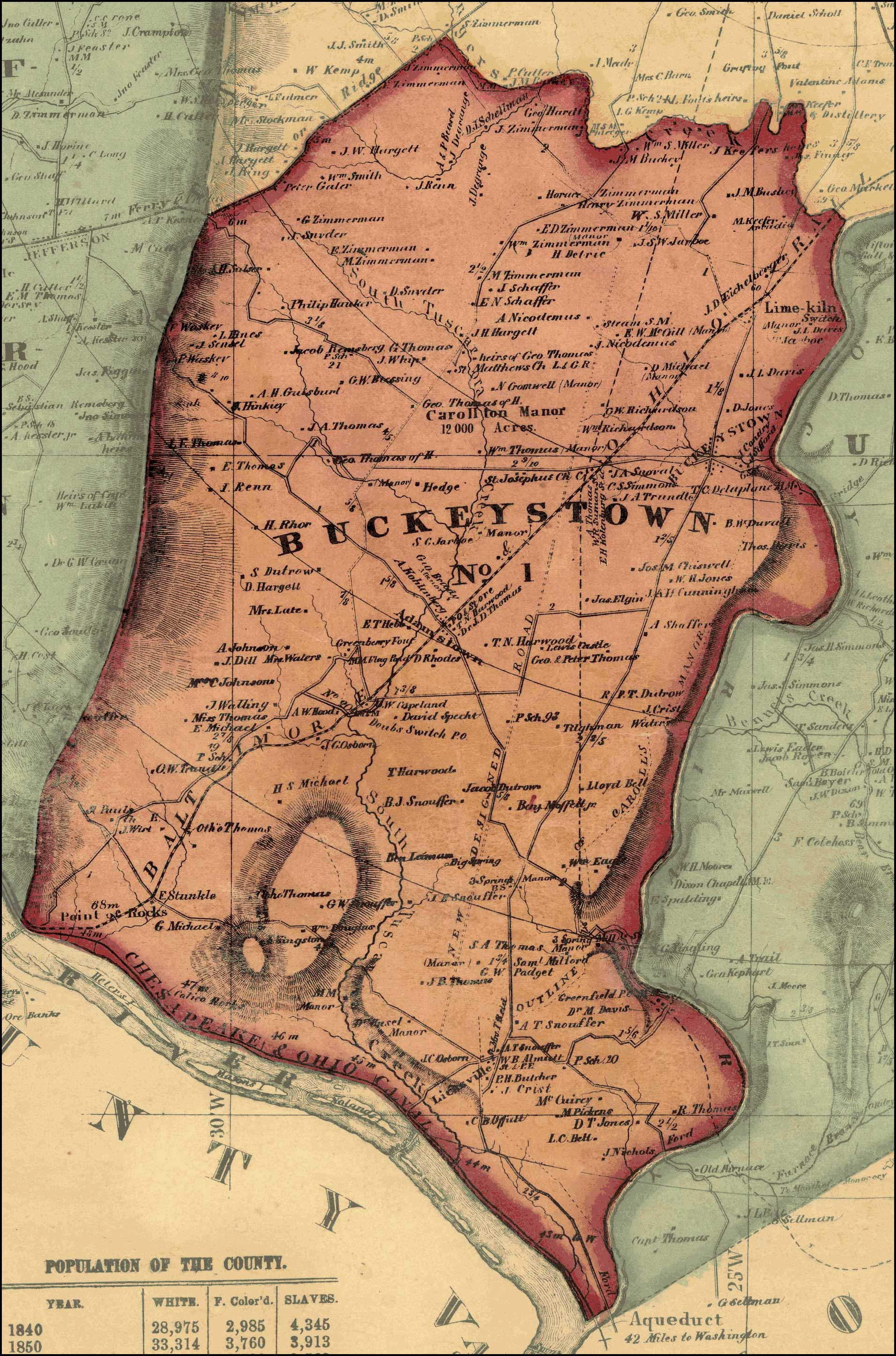 Isaac Bond, Map of Frederick County, 1858, Library of Congress, MSA SC 1213-1-457