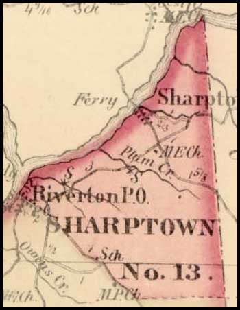 Simon J. Martenet, Map of Somerset County, 1865, Huntingfield Collection MSA SC 1399-1-75