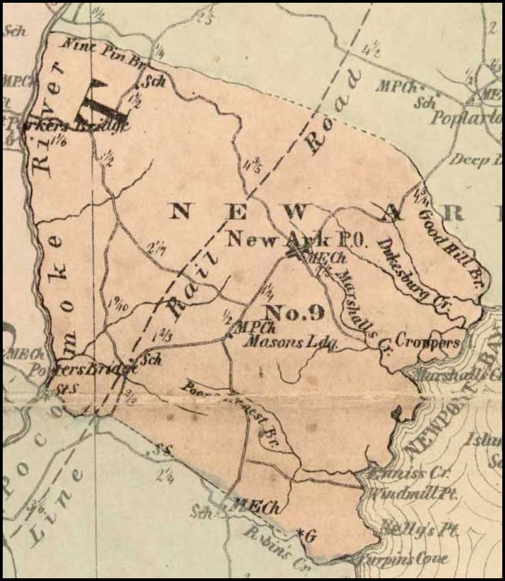 Simon J. Martenet, Map of Worcester County, 1865, Huntingfield Collection MSA SC 1399-1-75